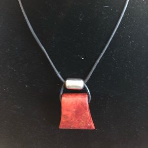 Silpada Sterling Silver and leather necklace